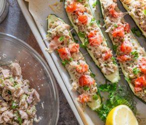 Healthy Zucchini Tuna Melts