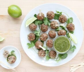 Indian Lamb Meatballs with Mint, Coriander, and Lime Chutney