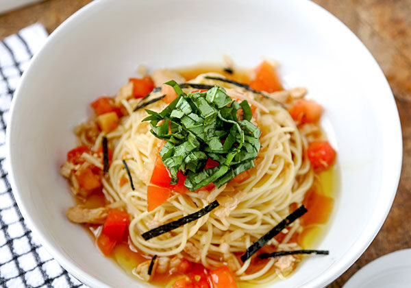 Japanese Chilled Tomato And Tuna Spaghetti