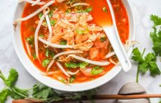 Korean Soup with Chicken Cabbage and Kimchi