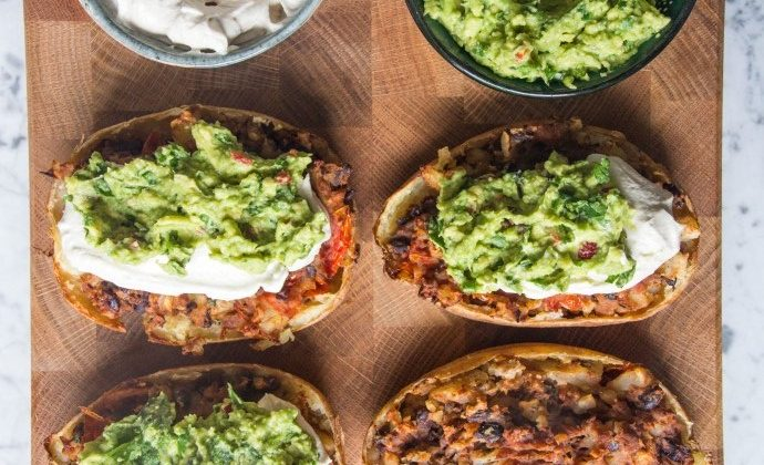 Loaded Mexican Style Potato Skins