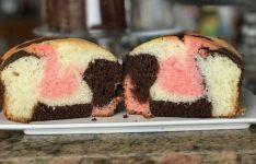 Loaf Pan Neapolitan Cake