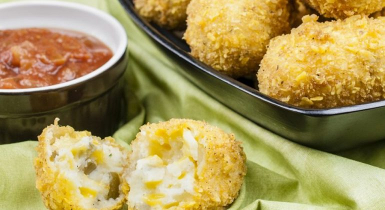 Mexican Jalapeno Cheddar Croquettes