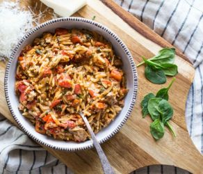 One Pot Creamy Tomato Orzo