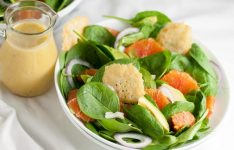 Orange and Avocado Salad with Parmesan Crisps