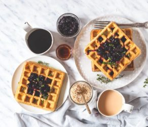 Orange and Thyme Waffles
