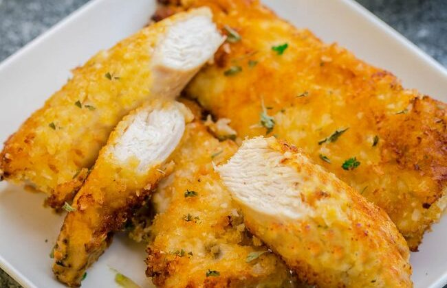 Oven Fried Coconut Chicken Tenders