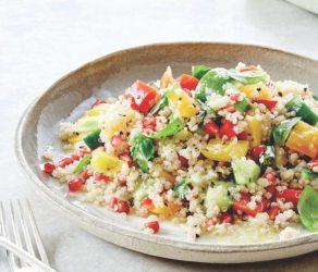 Quinoa Flakes, Flour & Seeds Salad