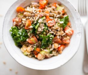 Quinoa Lentil Salad with Lemon Vinaigrette