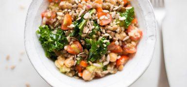 Quinoa Lentil Salad with Lemon Vinaigrette
