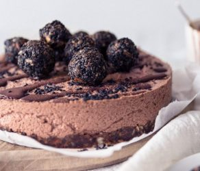 Raw Licorice Chocolate Mousse Cake