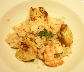 Risotto with Shrimps and Roasted Artichokes