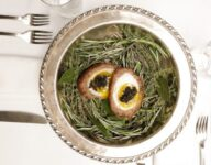 Scotch Eggs with Lamb Sausage and Caviar