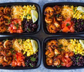 Shrimp Taco Meal Prep Bowls