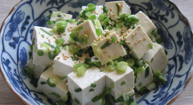 Spring Onion & Tofu Salad