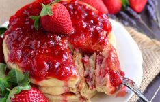 Strawberry Lavender Pancakes