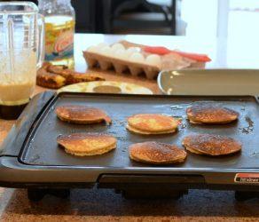 Triple-Banana Oat Pancakes