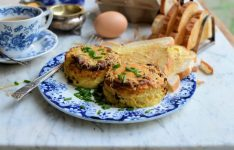 Twice Baked Cheese & Chive Breakfast Soufflés