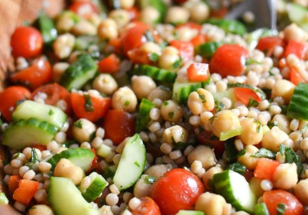 Whole Wheat Couscous and Chickpea Tabbouleh