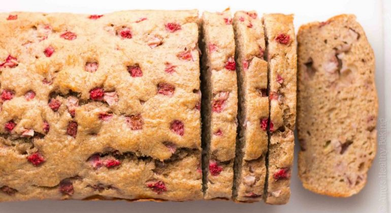 Whole Wheat Strawberry Buttermilk Banana Bread