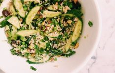 Brown Rice Cranberry and Pistachio Salad