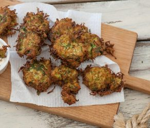 Crispy Zucchini Fritters for St Patrick