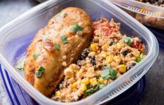 Fiesta Chicken Meal Prep Bowls with Cauliflower Mexican Rice