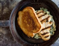 Grilled Chicken and Spinach Artichoke Dip Melt