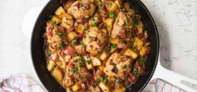 One Pan Dijon Chicken and Potatoes