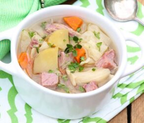 Slow Cooker Corned Beef & Cabbage Soup