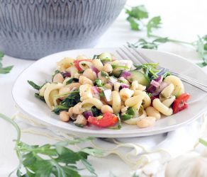 Greek Pasta Salad with Herb Vinaigrette