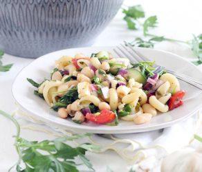 Greek Pasta Salad with Herb Vinaigrette