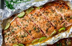 Honey Lime Garlic Butter Salmon