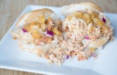 Instant Pot Shredded Hawaiian Chicken Sandwiches
