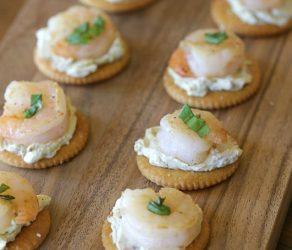 Pesto Cheese Shrimp Bites