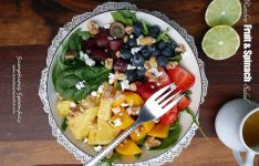Rainbow Fruit & Spinach Salad
