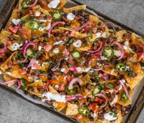 Spicy Baked Black Bean Nachos