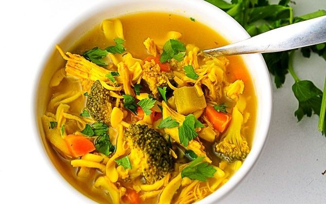 Turmeric Chicken Noodle Soup