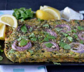 Zucchini Haloumi Slice