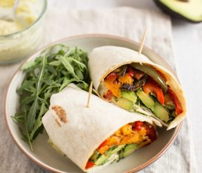 Avocado and Sweet Potato Wraps