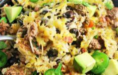 Beef Burrito Rice Skillet