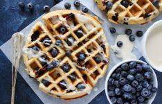 Blueberry Sour Cream Waffles