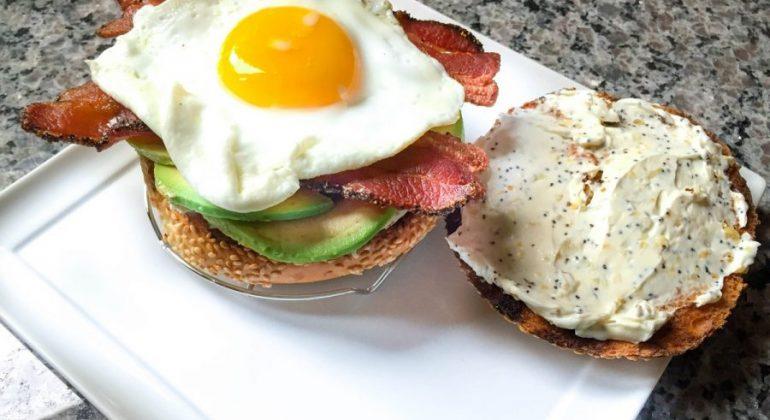 Breakfast Sunrise Bagelwiches