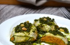 Butternut Squash Ravioli with Kale Pesto