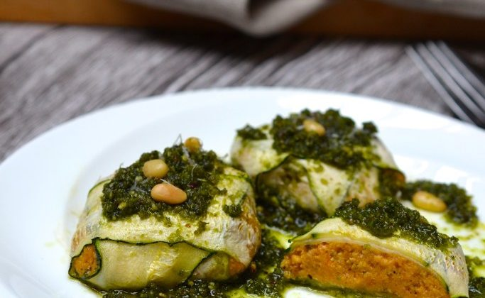 Butternut Squash Ravioli with Kale Pesto