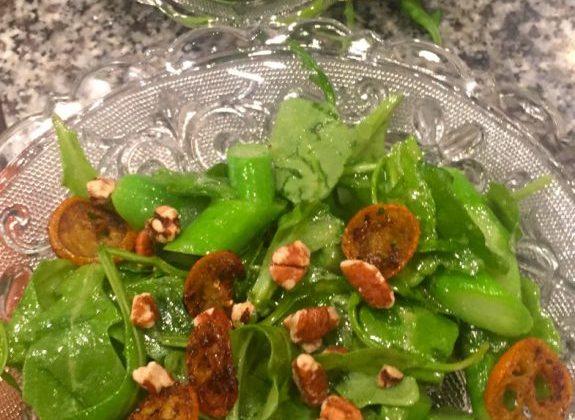 Caramelized Kumquat and Arugula Salad