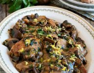 Chicken Thighs with Mushrooms Lemon and Herbs