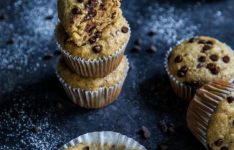 Chocolate Chip Tahini Banana Bread Muffins