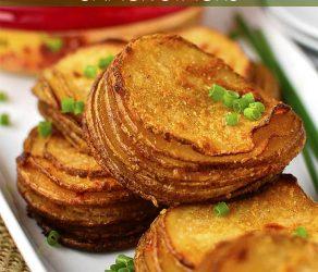 Crispy Potato Snack Stacks