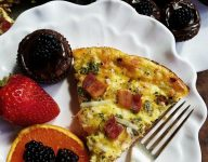Crustless Bacon Gruyere Cheese Quiche